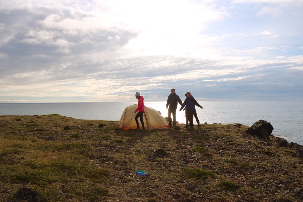 Iceland tent camping