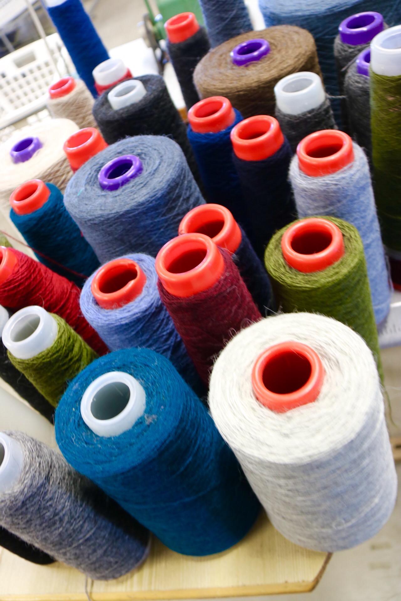 Kidka spools of wool yarn, Iceland