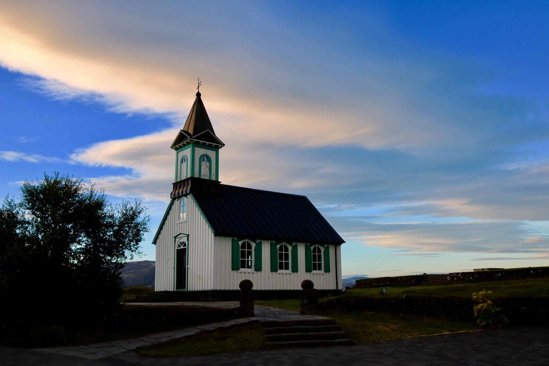 Þingvallakirkja Church at Thingvellir, Iceland UNESCO