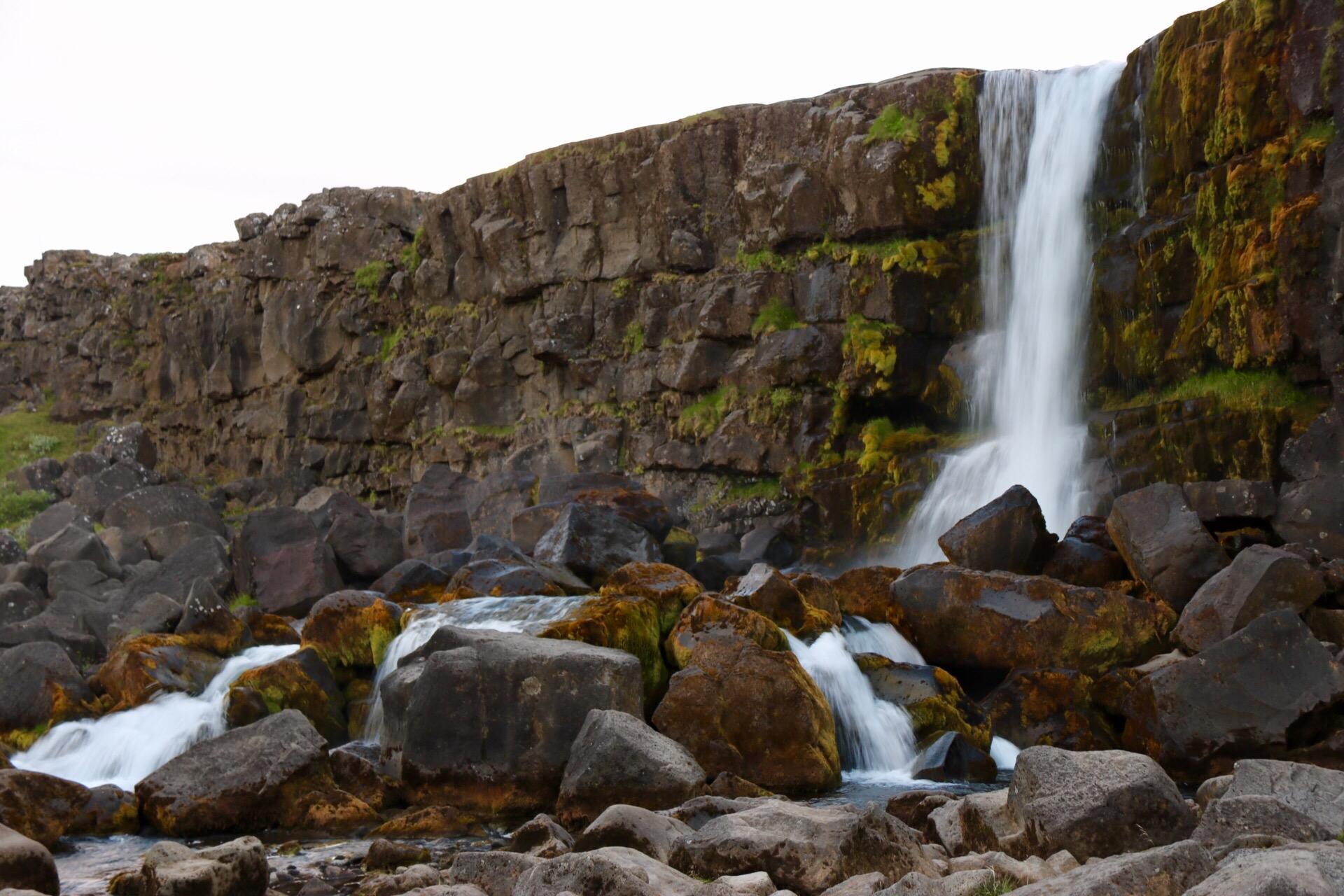 Öxarárfoss waterfall at Thingvellir, Iceland UNESCO