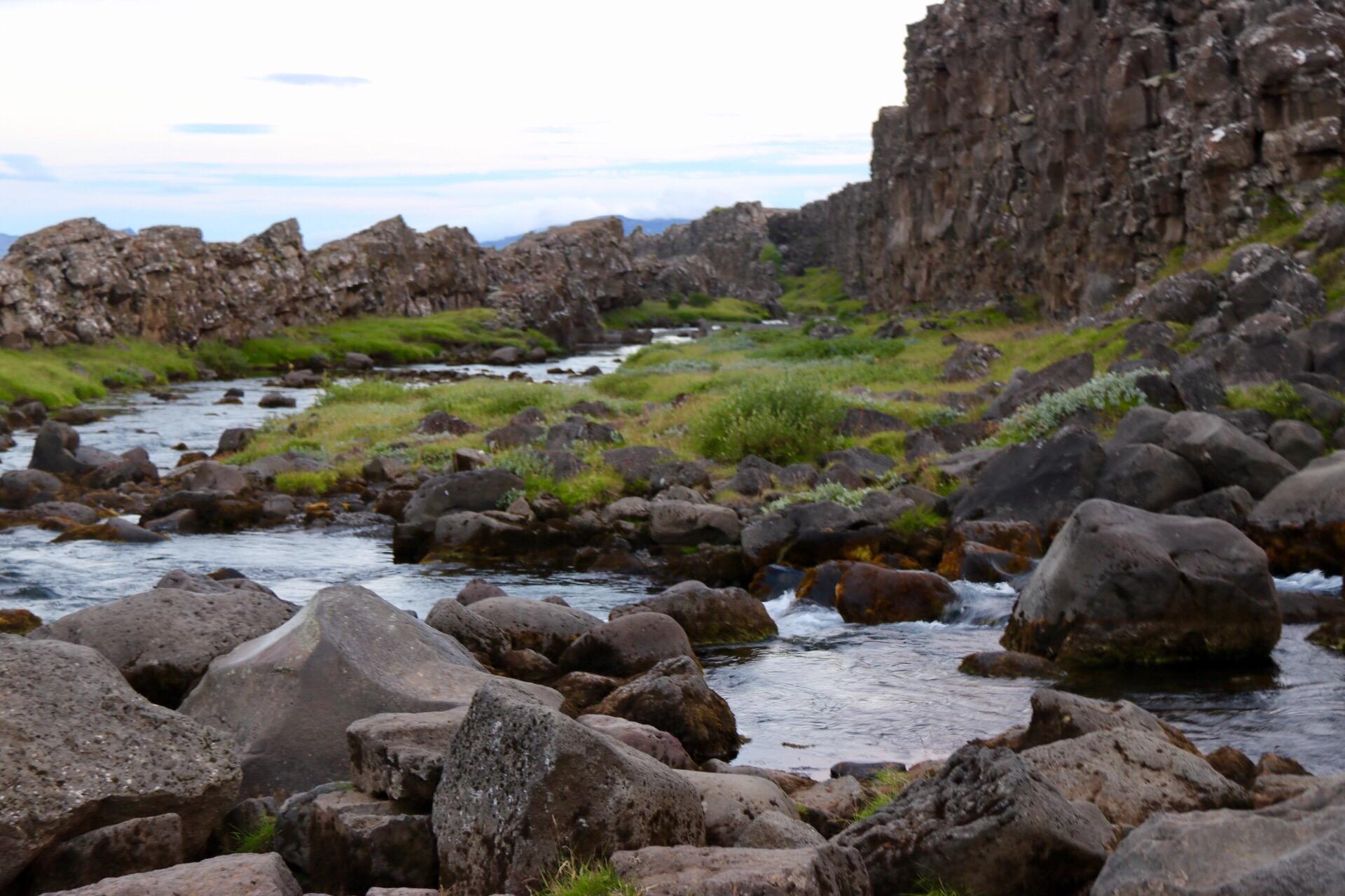 Öxará River at Thingvellir, Iceland UNESCO