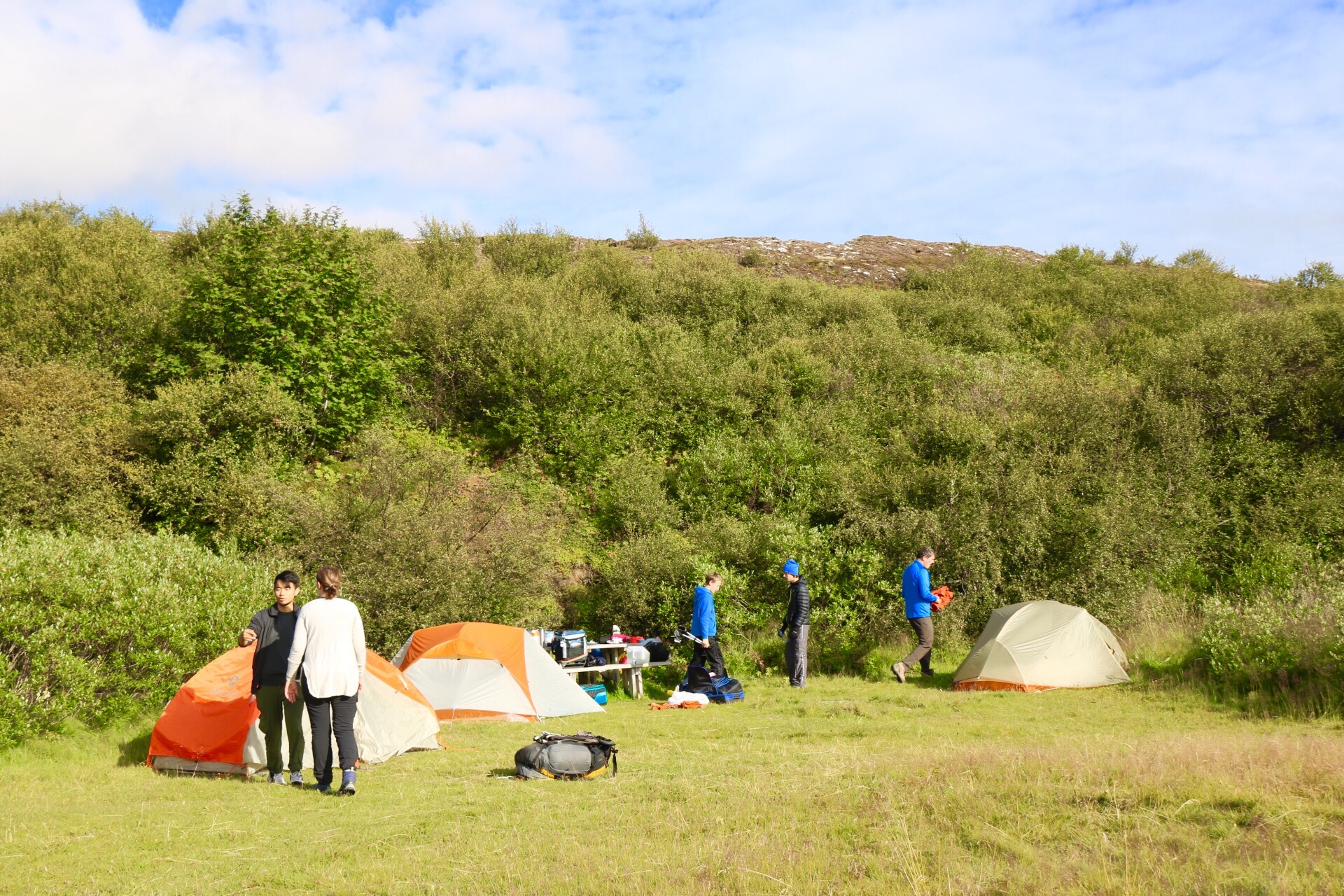 Camping at Thingvellir National Park Iceland UNESCO