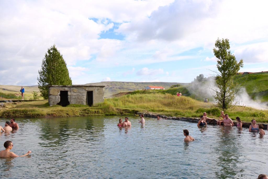 Secret Lagoon, Fludir Iceland, Gamla Laugin