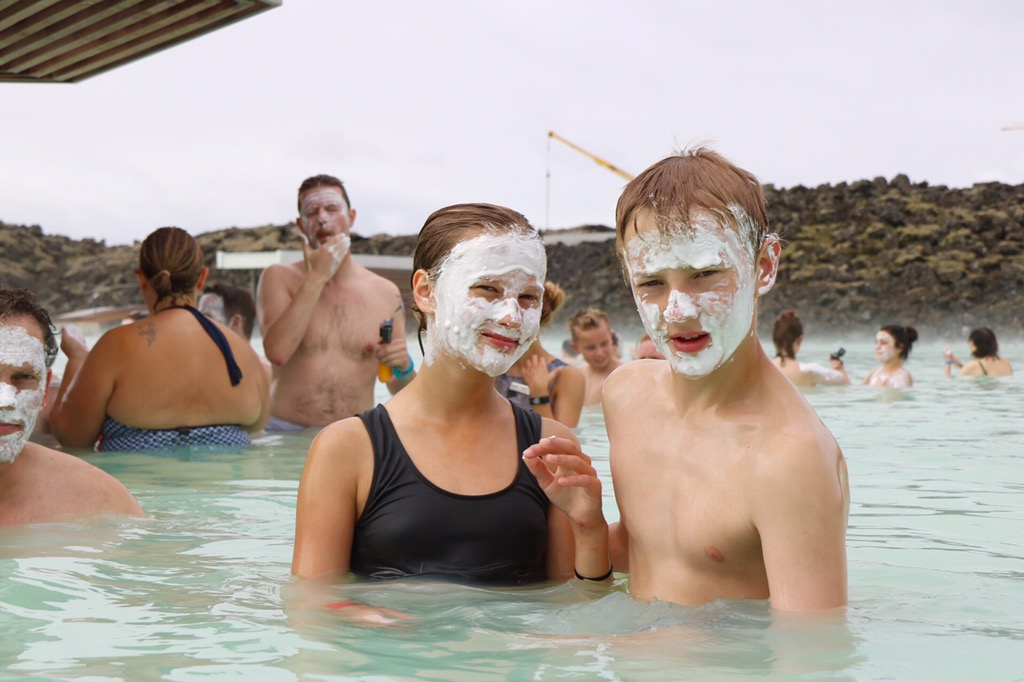 Silica mud mask at Blue Lagoon, Iceland